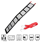 APT Motorcycle Steel Loading Ramp Folding 203 cm x 28 cm Maximum Load 340 kg handle & # X1 °F3CD ?