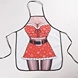 Household kitchen Cooking Sleeveless Funny Christmas Girl Sexy Apron Kitchen Gadget