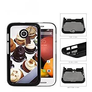 Cupcake Pastries With Chocolate Vanilla Icing Hard Plastic Snap On Cell Phone Case Motorola Moto E wangjiang maoyi