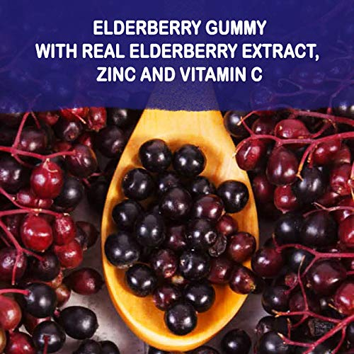 Sambucus Elderberry Gummies Family Size, 180 Gummies, for Children & Adults, with Vitamin C, Zinc & Black Elderberry Extract, Natural Herbal Supplement with Plant Pectin, Immune Support, Great Taste by Natural BioScience (Image #6)