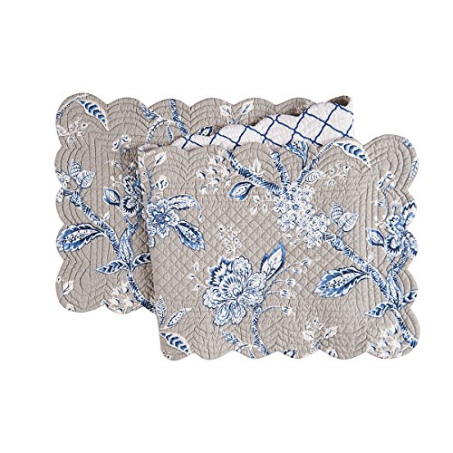 C&F Home 14X51 Quilted Runner, Annabelle Blue Table Runner Multi