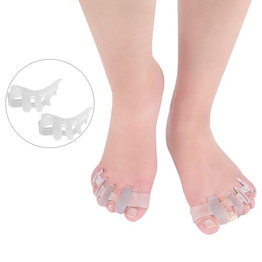PXQ Toe Separators Gel Bunion Corrector Hallux Valgus Protectores Yoga Claw Toe Tablilla Hammer Toe Enderezadora Bunion Alivio Correcto Toes ...