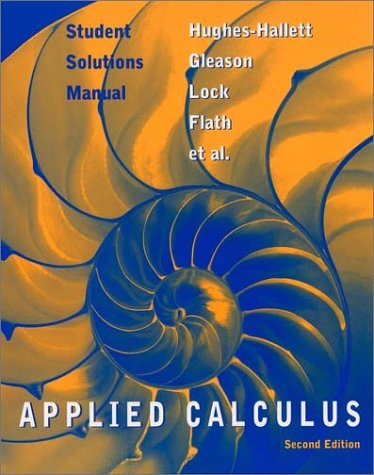Student Solutions Manual to accompany Applied Calculus, 2nd Edition