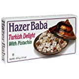 Hazer Baba Turkish Delight with Pistachio, 16-Ounce Boxes (Pack of 4)