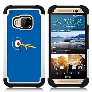 BullDog Case - FOR/HTC ONE M9 / - / Bullseye Bulls Eye Match Target /- H??brido Heavy Duty caja del tel??fono protector din??mico - silicona suave