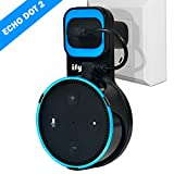 Amazon alexa Wall Mount Hanger Stand Compatible with Amazon Echo Dot Without Mess Wires Or Screws, Dot Accessories, Compact Holder Case Plug in Kitchens, Bathroom And Bedroom (Black)
