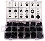 #3: Ram-Pro 125 Piece Rubber Grommet Eyelet Ring Gasket Assortment, Set of 18 different sizes, with See-through Divided Organizer Case – Ideal for Automotive, Plumbing, and PC hardware/Piano repair etc.