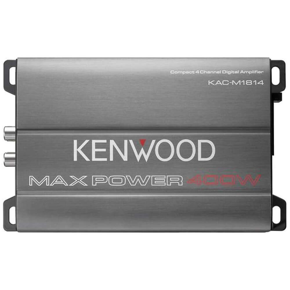 Kenwood KAC-M1814 4-Channel Compact Bridgeable Marine//Motorsports 400W Max Power Digital Amplifier
