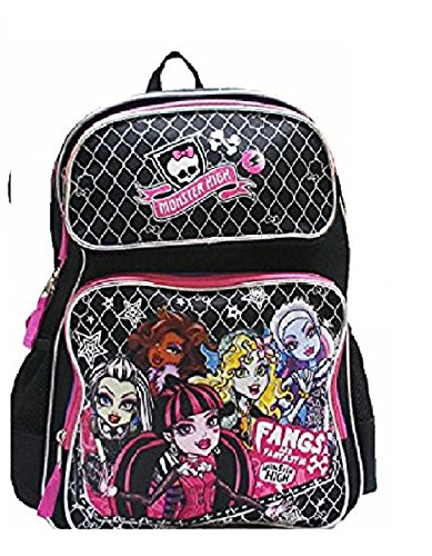 Monster High Large Backpack with Insulated Lunch Bag Set 2 Pcs . -