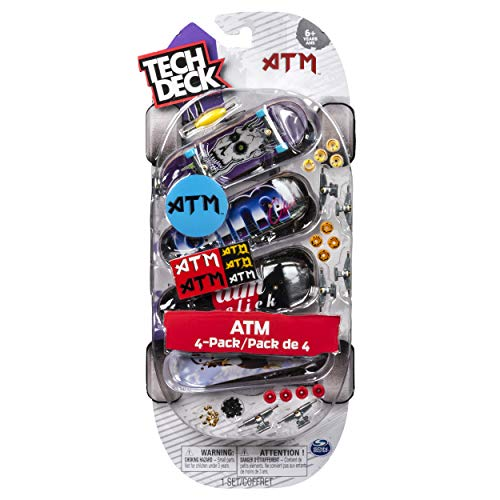 Tech Deck ATM Click Skateboards 96mm Fingerboard 4 Pack