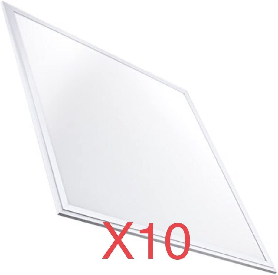 Pack 10x Panel LED Slim 60x60 cm, 40w, Color Blanco Frío (6500K). 3200 Lumenes. Driver incluido. A++: Amazon.es: Iluminación