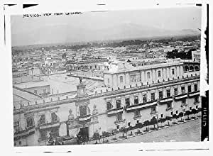 Photo: Mexico view from the cathedral,mountains,buildings,Bain News Service