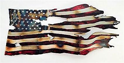 amazon com waving tattered flag torch home kitchen