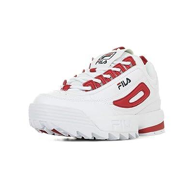 60e4e299281b27 Fila Damen Sneaker Schuhe Disruptor CB Low WMN aus weißem Leder 1010604-02A