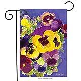 "Painted Pansies Spring Garden Flag Floral Pansy 12.5"" x 18"" Briarwood Lane"