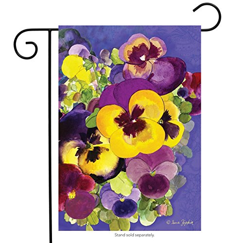 Painted Pansies Spring Garden Flag