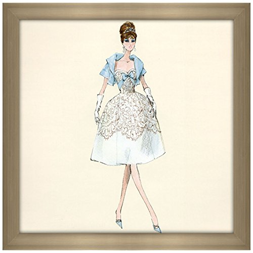 (Picture Perfect International Décor Robert Best Party Dress Barbie Doll Framed Fashion Wall Decor)