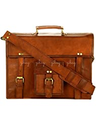 Genuine Leather Vintage Messenger Bag Briefcase Laptop Office College School