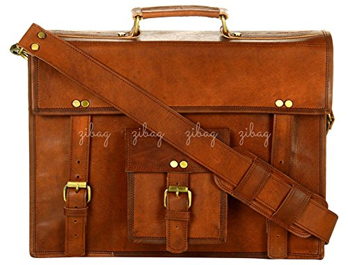 Zibag Genuine Leather Vintage Messenger Bag Briefcase Laptop Office by ZIBAG BAGS FOR EVERY MOOD OF LIFE