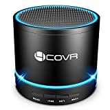 Wireless Bluetooth Speaker - Forcovr Mini LED Best Multi-Function Portable Indoor Outdoor Stereo Bluetooth Speakers with Bass HD Surround, Built-in Microphone, FM Radio, Handsfree Call, AUX Input