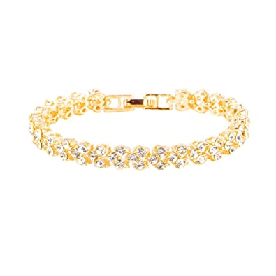3c69716fa Amazon.com: Clearance Woman Simple Rhinestone Roman Style Crystal Bracelets  Gifts (Gold): Jewelry