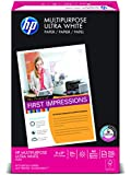 HP Paper, Multipurpose Ultra White, 20lb, 11 x 17 , Ledger, 96 Bright,  500 Sheets / 1 Ream (172001), Made In The USA