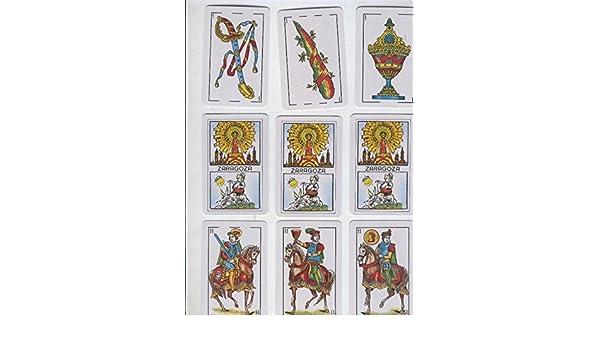 Baraja de cartas poker con trasera Zaragoza con dibujo ...