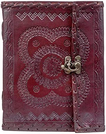 MONTEXOO Handmade Vintage Stone Leather Journal Notebook - Genuine Leather Bound Daily Notepad Gift For Men & Women…