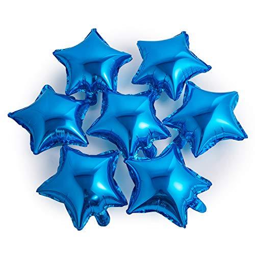 (Star-shaped Balloon 10 inches Mini Foil Balloon 50 pcs Blue Mylar Balloons)