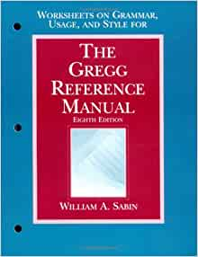 the gregg reference manual eighth edition worksheets on