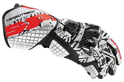 Spidi Sport S.R.L. Carbo Track Dovi Replica Gloves, Distinct Name: White/Black, Gender: Mens/Unisex, Size: Sm, Primary Color: White A151-070-S