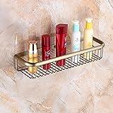 Rozin Antique Brass Bathroom Cosmetic Storage Shelf Shower Caddy Holder Wall Mounted