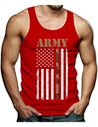 4th of July Big USA Army Flag - Gift for Soldiers, Veterans Military Singlet