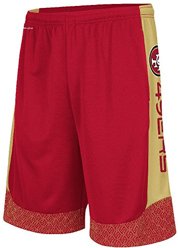 Majestic San Francisco 49ers Mens Crimson Strong Will Synthetic Shorts (L=35-36) (49ers Francisco Coaches San Mens)