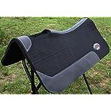 """Western Horse Saddle Contour Wool Felt Therapeutic SADDLE PAD 32""""X30"""" 3981BK1"""