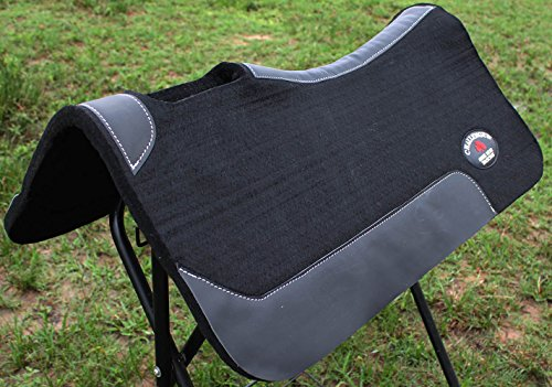 Challenger Horse Western Saddle Contour Wool Felt Therapeutic SADDLE PAD 32