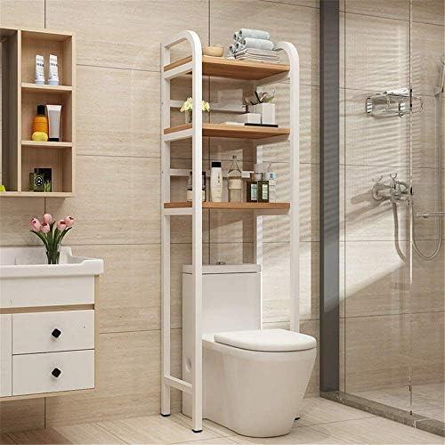BXU-BG バスルーム棚浴室スペースセーバー自立ホームのシャワーキャディシェルフのトイレ収納棚ラックバスルームオーガナイザー肥厚スクエアオーバーチューブ(カラー:ホワイト、サイズ:50×165センチメートルX 35)