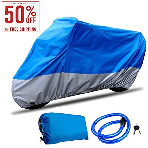 CARSUN-Motorcycle-Cover-All-Season-Two-color-Design-Waterproof-Aluminum-Lock-Holes-Buckle-Lock-for-Outdoor-Indoor