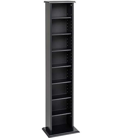 Superb Prepac Slim Multimedia Tower Storage Cabinet, Black