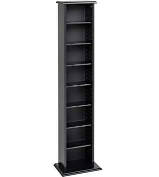 Lovely Black Slim Multimedia Storage Tower