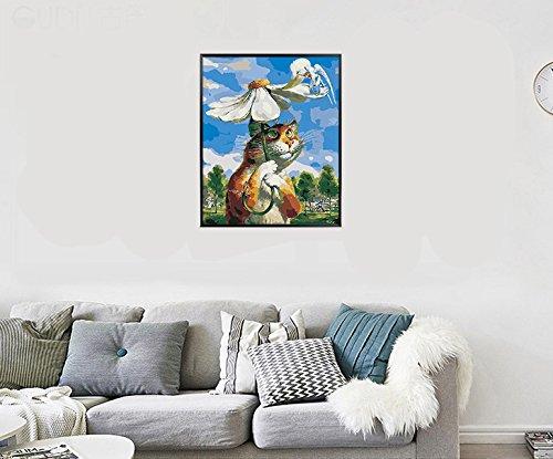 Golden maple DIY Vorgedruckt Leinwand-/Ölgem/älde Geschenk f/ür Erwachsene Kinder Malen Nach Zahlen Kits Mit Holzrahmen Home Haus Dekor Abstraktes Pferd 40*50 cm