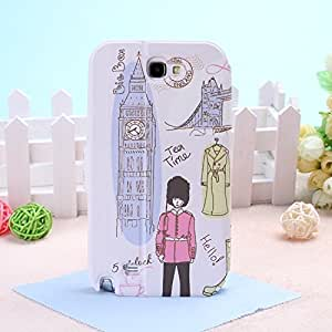 Wkae@ Samsung Galaxy Note 2 N7100 PU Leather Cover Case by Diebell (London Culture)