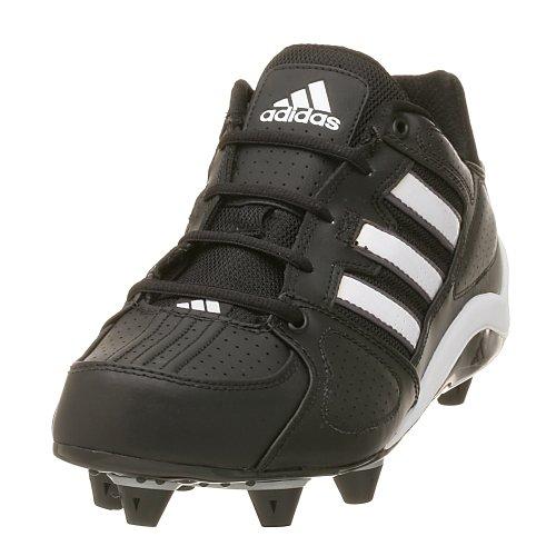 adidas Men's Corner Blitz Detachable Cleat Football Shoe, Black/White/Silver, 10 M