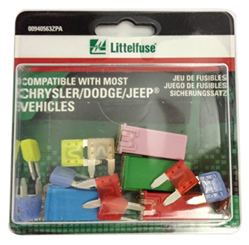 - Littelfuse 00940563ZPA 5pcs OEM Emergency Fuse Kit for Chrysler/Dodge/Jeep