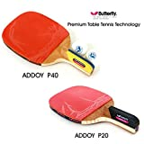 New Butterfly ADDOY P20 + P40 Table Tennis Racket Penholder Paddle Ping Pong 2 Racket & Ball