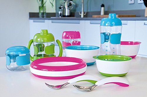 OXO Tot 4 Piece Feeding Set, Aqua (4 Pack) by OXO (Image #5)