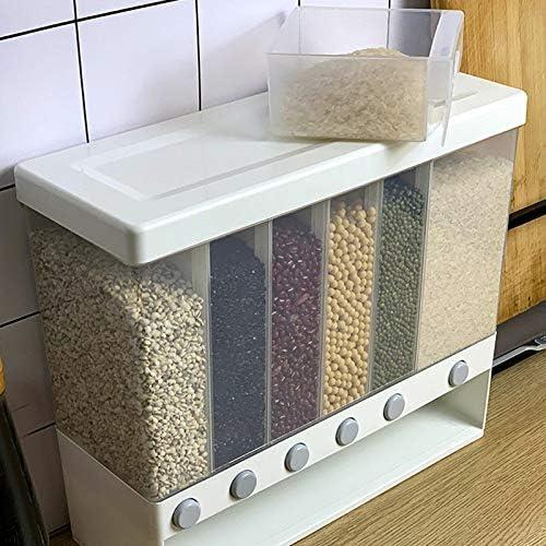 Lynn Distributeur de nourriture /à sec mural avec compartiments multiples bo/îte de rangement automatique