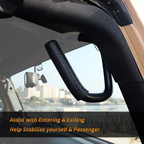 Black AUTOSAVER88 Front /& Rear Grab Handles Roll Bar Steel Grip Handles Compatible for Jeep Wrangler JK JKU Unlimited Sports Bubicon Sahara 2007-2018 4 Doors