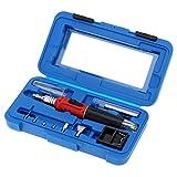 HS-1115K Professional 10 in 1 Soldering Iron Set Butane Gas Soldering Iron Set 26ml Welding Kit Torch Welding Equipment