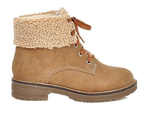 Lacet Cuir Unie Ageemi Pu Couleur Haut Shoes Femme Demi gPPx8Hw
